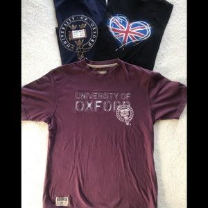 3 T-Shirts from London Heathrow and Oxford Univ!!